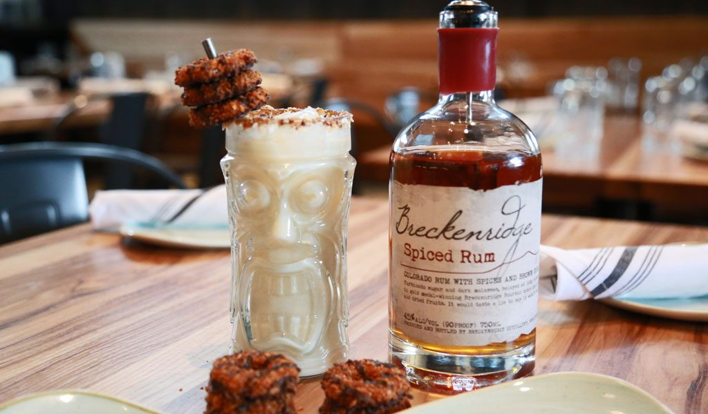 Girl Scout cookies, Samoas, Breckenridge distillery, spiced rum, cocktails