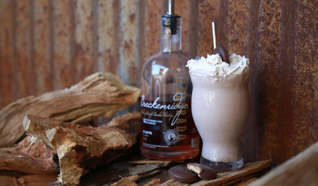 Girl Scout cookies, tagalongs, Breckenridge distillery, bourbon, cocktails
